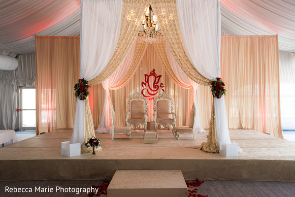 Elegant indian wedding mandap decor