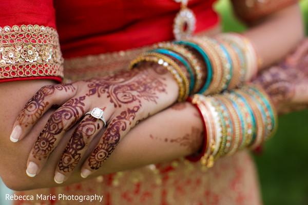 India bride's mehndi
