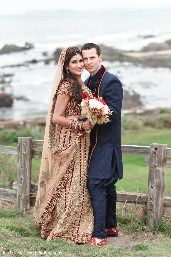 Photo in Half Moon Bay, CA Indian Fusion Wedding by Rachel Blackwell Photography