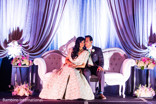 indian wedding reception,reception stage,indian bride and groom