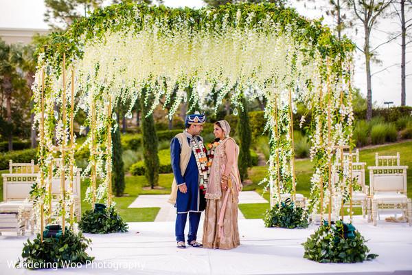 The perfect indian wedding outdoor mandap