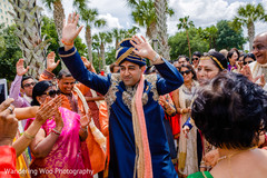 Indian groom enjoying pre wedding celebrations