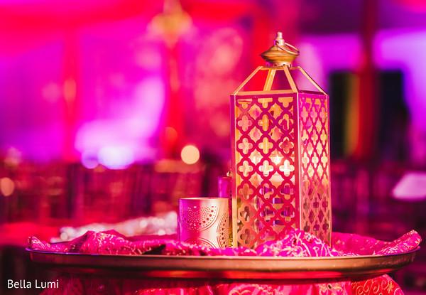 Romantic candle table decor
