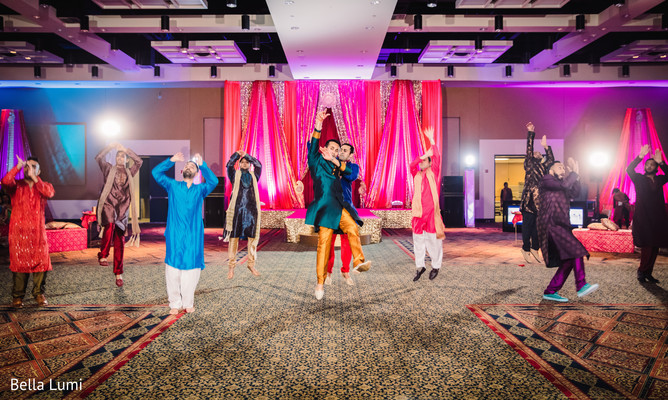 Indian groom's sangeet night performance