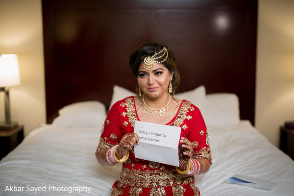 Indian bride receiver letter from groom