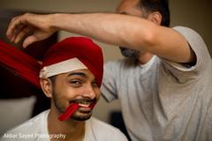 indian groom getting ready,indian groom,indian groom turban