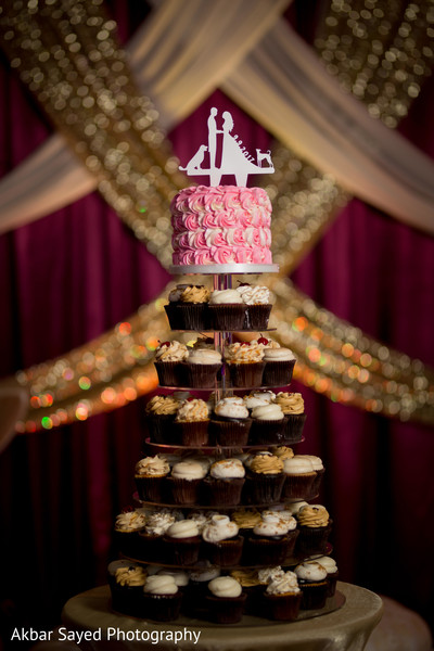 Creative indian wedding cake decor