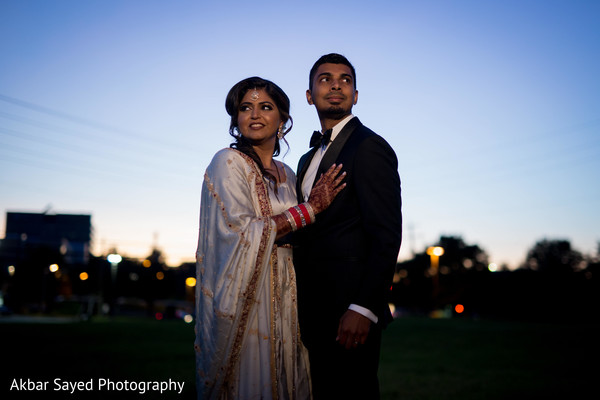 Ravishing indian bride and groom outdoor photo session