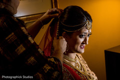 indian bride,getting ready,hair and makeup,dupatta