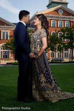 reception fashion,indian bride and groom,indian wedding photography