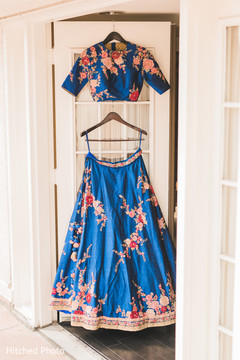 reception fashion,blue lehenga,indian bridal fashion