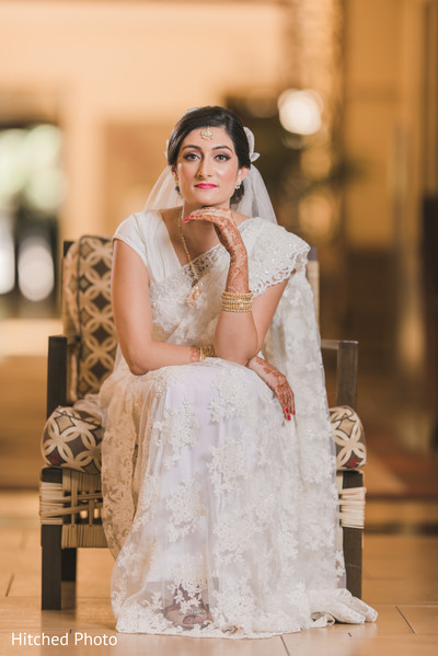 indian bride,white sari,indian wedding photography,portrait