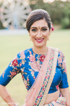 bridal lengha,indian bride hair and makeup