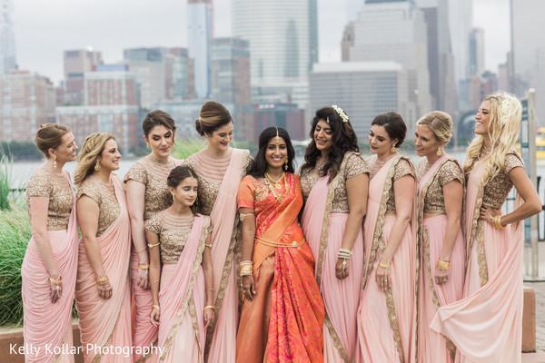 indian bride,indian wedding photography,indian bridesmaids,saris