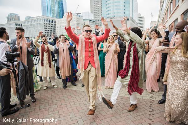 indian groom,baraat,dhol player
