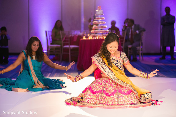 indian wedding reception,indian bride,performance,choreography