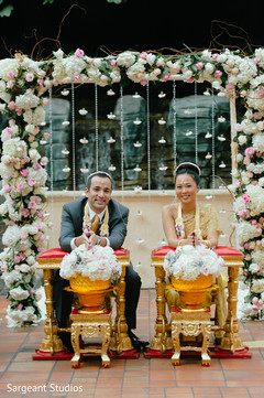 indian fusion wedding,floral and decor,thai wedding