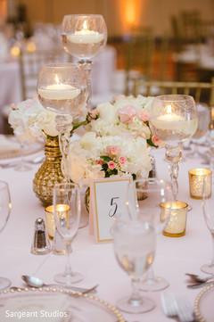 indian fusion wedding reception,floral and decor,floral centerpiece