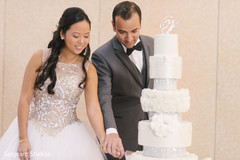 indian fusion wedding reception,indian bride and groom,wedding cake