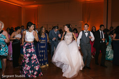 indian fusion wedding reception,indian bride and groom,dj