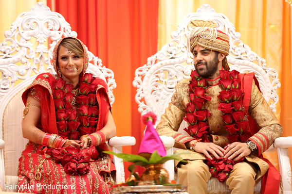 Indian soulmates during their wedding ceremony.