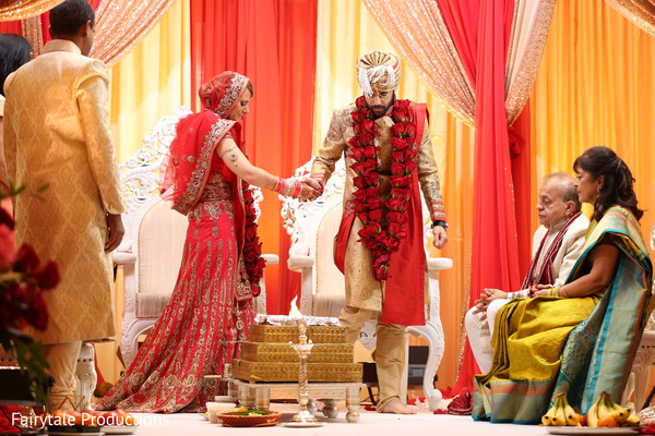 Charming Indian bride and groom.