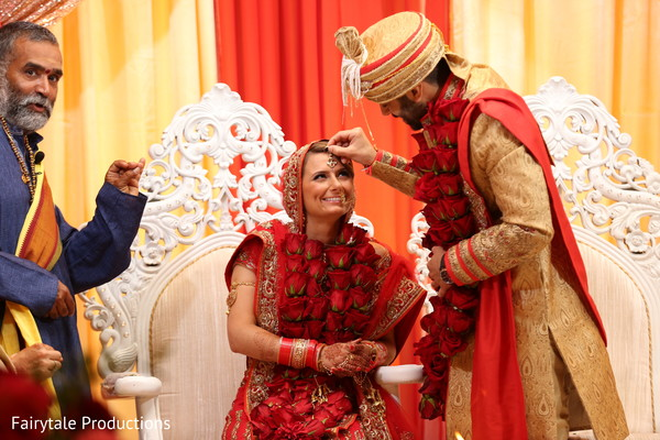 Sindhoor wedding ritual.