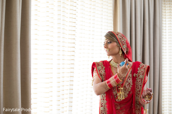 Indian bride final touch ups.
