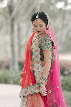 Glitzy and glamorous Indian bride.