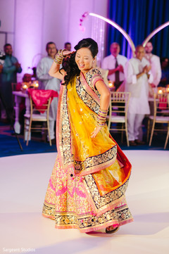 Indian bride Bollywood performance.