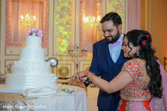 indian wedding reception,indian bride and groom,indian wedding reception photography,indian wedding cake