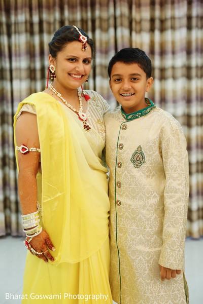 Gorgeous maharani in yellow sari