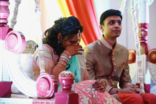 Emotional maharani during sangeet