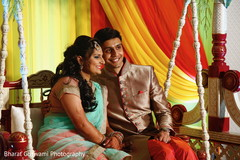 Sweet indian couple at their sangeet