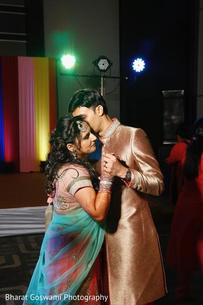 Indian couple slow dancing