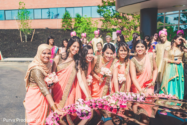 Indian Bridesmaids In Long Island NY Wedding By Purva Productions