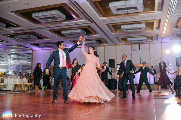 Upbeat indian lovebirds dance performance