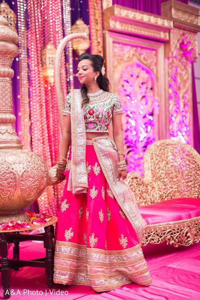 Ravishing indian bride's sangeet outfit