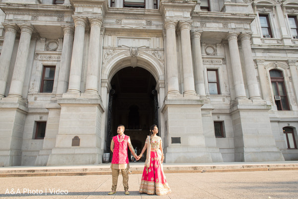 Indian bride and groom outdoor photo session