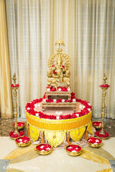 Ganesh statue wedding decor