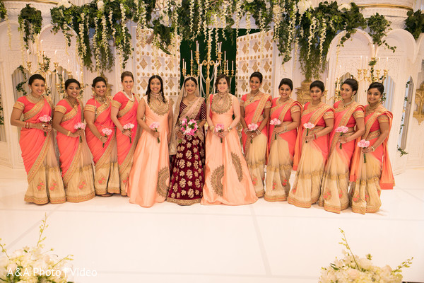 indian bridal party,indian wedding gallery,indian bride fashion,indian bridesmaids' fashion
