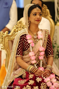 Indian bride during ceremony