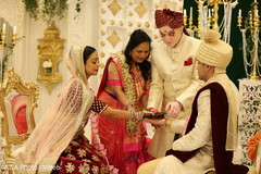 Traditional indian bride and groom's wedding ritual