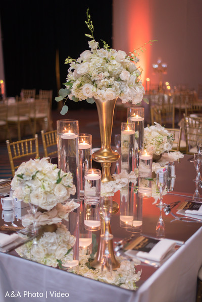 indian wedding reception,floral centerpieces,indian wedding reception floral and decor