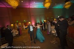 indian wedding reception,dj,lightning,indian bride and groom