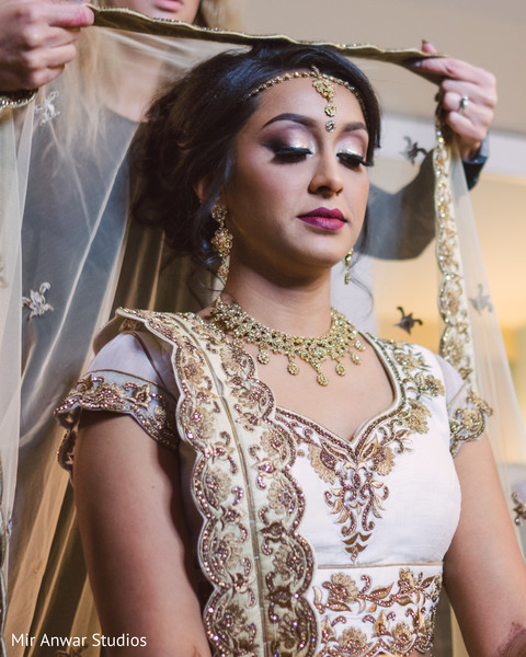 Indian bride draping and styling.