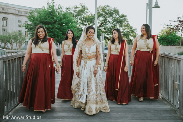 Flawless Indian bridal party.