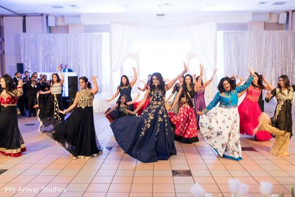 Mesmerizing Indian bride's entourage choreography.
