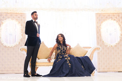 Majestic Indian bride and groom reception wear.