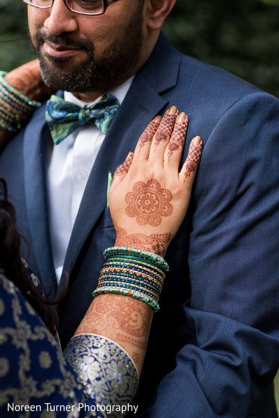 indian bride and groom,portrait,henna